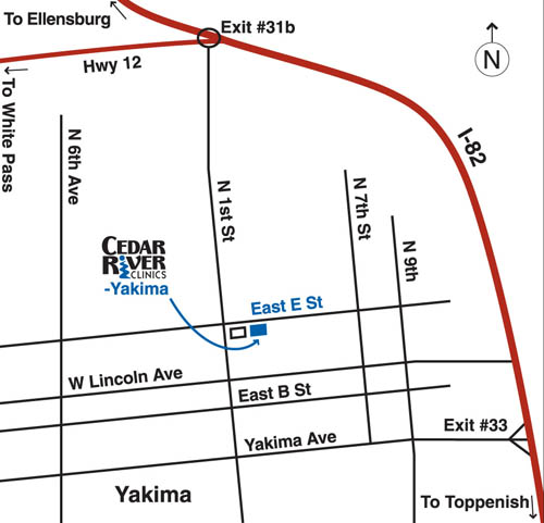 map to clinic in yakima
